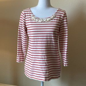💎 Banana republic striped 3/4 sleeve blouse💎
